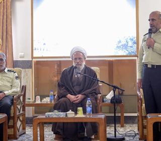 دیدار فرماندهان نیروی انتظامی با آیت الله محمدی ری شهری