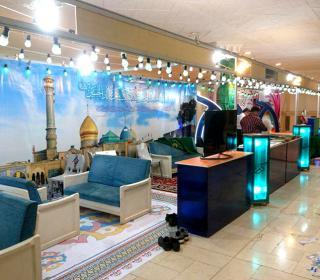 مراحل آماده سازی غرفه آستان مقدّس در نمایشگاه قرآن کریم