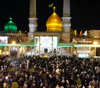 لحظات تحویل سال نو در بارگاه ملکوتی حضرت عبدالعظیم(ع)